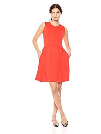 Lyss Loo Womens Im Smitten Sleeveless Skater Dress with Pockets, Coral Small