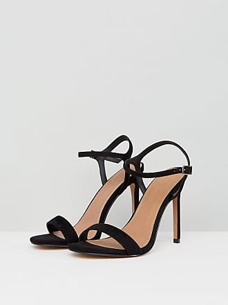 ccd0e5330a5 Asos Wide Fit Hands Down barely there heeled sandals - Black