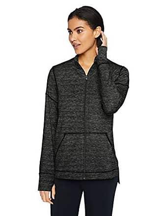Natori Womens Jersey Zip-Up Jacket, Dark Grey Heather, X-Large