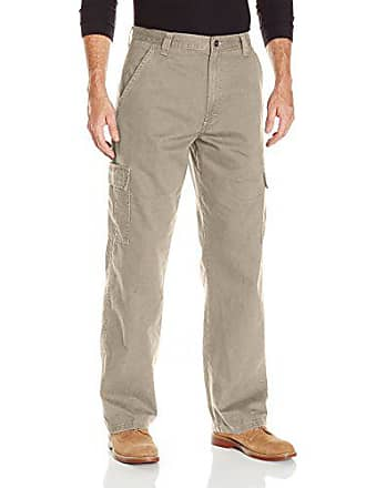Wrangler Authentics Mens Classic Twill Relaxed Fit Cargo Pant, Khaki Dust, 34 x 34