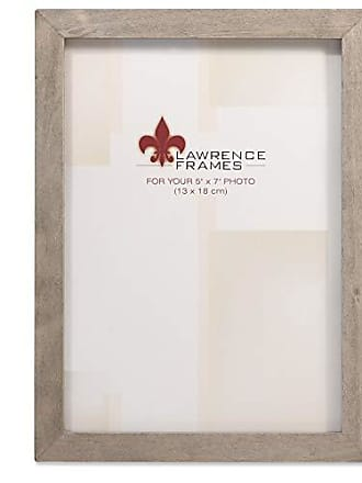 Lawrence Frames 5x7 Gray Wood Gallery Collection Picture Frame