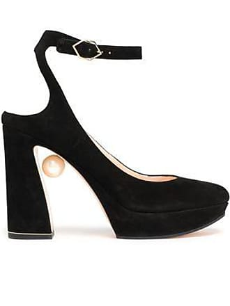 ca5913c9c84085 Nicholas Kirkwood Nicholas Kirkwood Woman Faux Pearl-embellished Suede  Platform Pumps Black Size 36.5