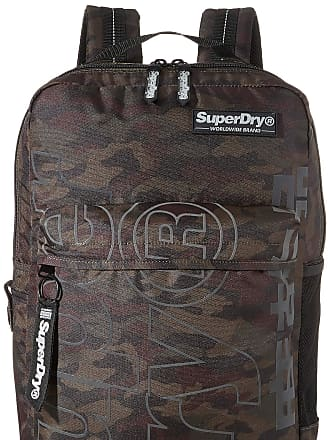 Superdry Academic Reflective Rucksack Mens Backpack, Multicolour (Black Camo), 30x20x44 centimeters (W x H x L)