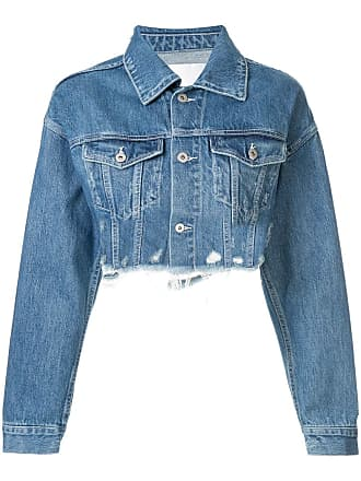 Ground-Zero Jaqueta jeans cropped - Azul