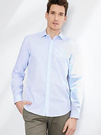 b9a9a01cda93 Cyrillus Herrenhemd, tailliert, kleine Motive, bügelfrei himmelblau weiß