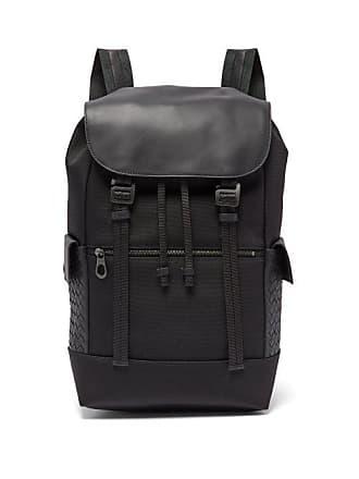 a9dd65c4329b Bottega Veneta Intrecciato Leather Trimmed Backpack - Mens - Black