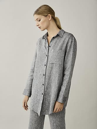 Asceno Milan Charcoal Linen Shirt