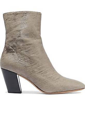 Iro Iro Woman Sliced Coated-leather Ankle Boots Mushroom Size 36