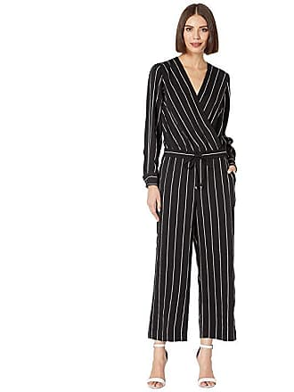 97f52cac1ee Ralph Lauren Striped Surplice Jumpsuit (Polo Black Mascarpone Cream) Womens  Jumpsuit   Rompers