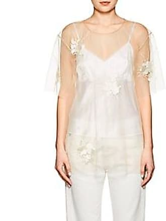 6917256de02d16 Helmut Lang Womens Embroidered Sheer Tulle Top - Ivorybone Size XS