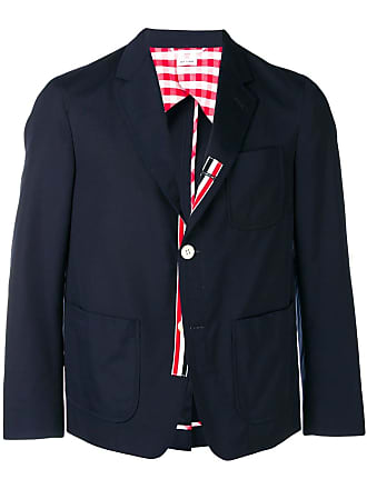 Thom Browne Typewriter Cloth Sack Sport Coat - Blue