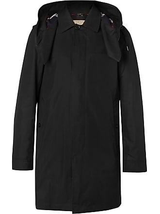 Burberry Cotton-blend Gabardine Hooded Coat With Detachable Gilet - Black