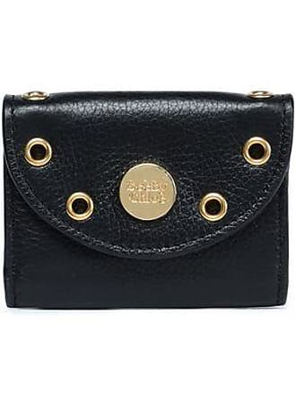 31f8668016f67 See By Chloé See By Chloé Woman Embellished Textured-leather Coin Purse  Black Size