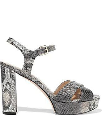 fda00d029203 Stuart Weitzman Stuart Weitzman Woman Python-effect Leather Platform Sandals  Animal Print Size 38.5