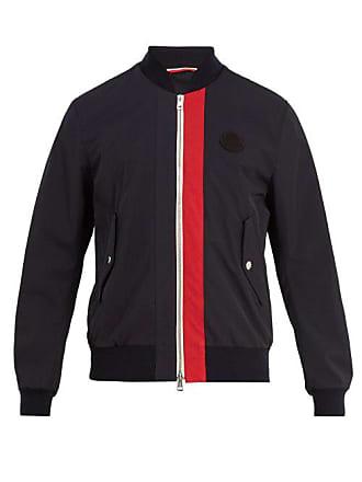 Moncler Joey Logo Appliqué Gabardine Bomber Jacket - Mens - Navy