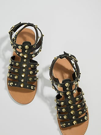 2acc63fd56bb Asos Flip Leather Gladiator Sandals - Black