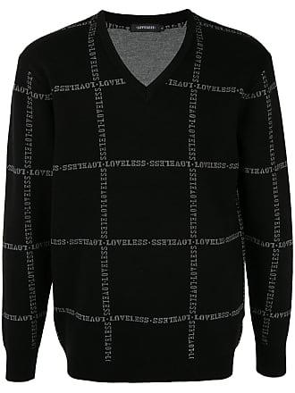 Loveless Suéter com logo bordado - Preto