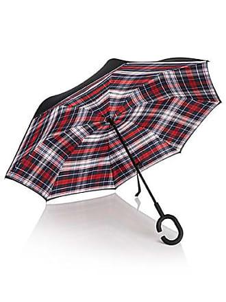 Simons Hands-free reverse patterned umbrella