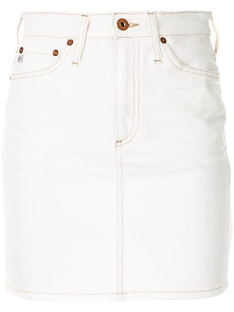 a100328369 AG - Adriano Goldschmied The Vera denim skirt - White