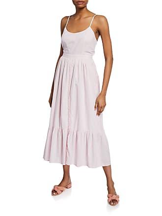 Xirena Lena Sleeveless Tie-Back Midi Cotton Dress