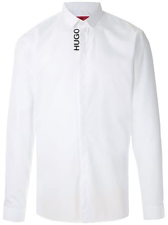 HUGO BOSS Camisa com logo - Branco