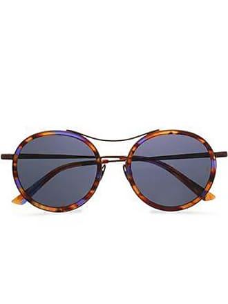 84d93687e7a20 Sunday Somewhere Sunday Somewhere Woman Roso Round-frame Tortoiseshell  Acetate And Metal Mirrored Sunglasses Lavender