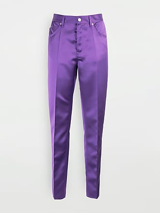 Maison Margiela Mm6 By Maison Margiela Casual Pants Purple Polyester