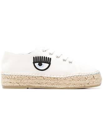 Chiara Ferragni eye detailed espadrille sneakers - Branco