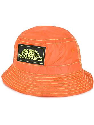Palm Angels logo patch bucket hat - Orange