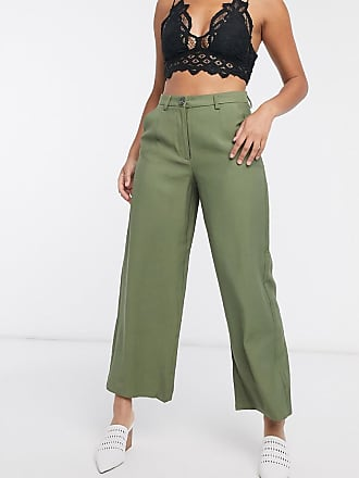 Object cropped length trousers co ord in burnt olive-Green