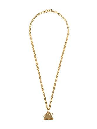 Off-white Colar com logo - Dourado