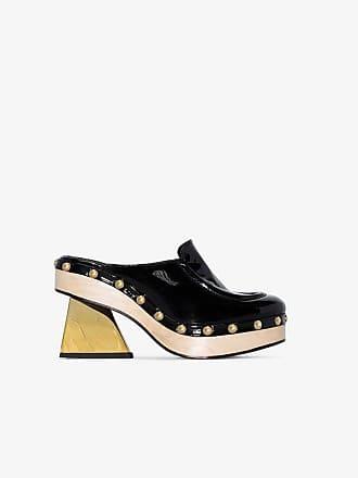 Marques Almeida black stud embellished clogs