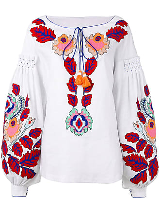 Yuliya Magdych Eden Tree embroidered blouse - White