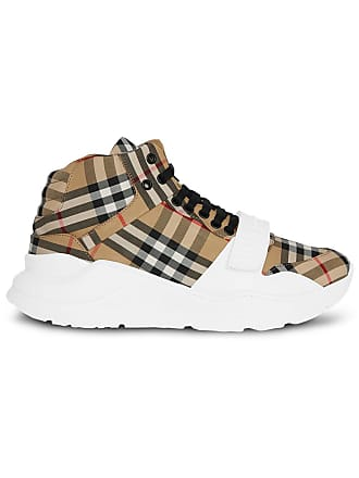 e9cae231aeb Burberry Vintage Check High-top Sneakers - Yellow