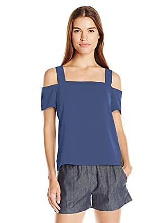 Cooper & Ella Womens Ava Cold-Shoulder Top, Navy, Large