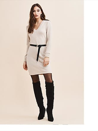 Dynamite V-Neck Sweater Dress With Belt - FINAL SALE PRISTINE