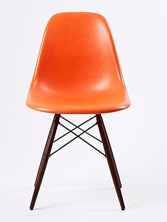 Vitra DSW Fiberglass Side Chair Dark Maple