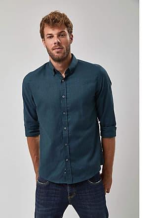 Zapalla Camisa Oxford Listrada - Marinho E Verde - Tamanho GG