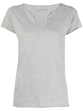 Zadig & Voltaire rear slogan T-shirt - Grey