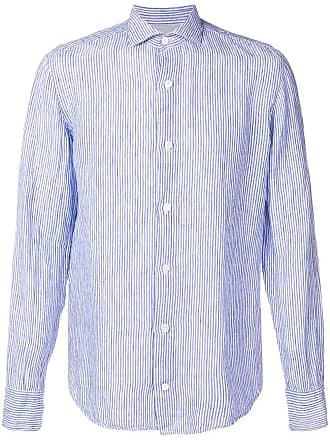 Eleventy striped spread collar shirt - Azul