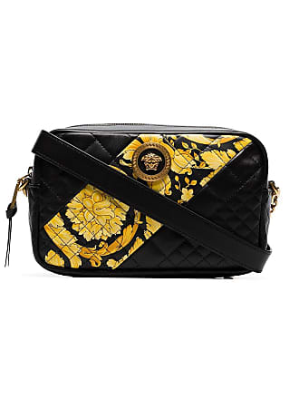 1f97df6c5f Versace Bolsa transversal Barocco de couro matelassê - Preto
