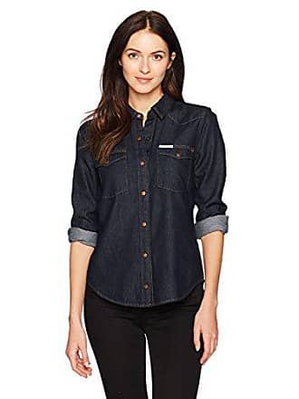 b495c6ec Calvin Klein Jeans Womens Long Sleeve Denim Button Down Shirt, Alexa Rinse  wash, 2X