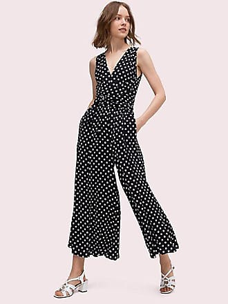 30ddd1a8 Kate Spade New York Lia Dot Jumpsuit, Black/French Cream - Size 14