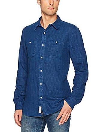 Lucky Brand Mens Mason Work Wear Shirt, Indigo Multi, XX-Large