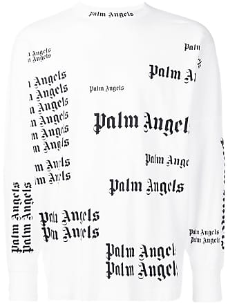 Palm Angels long sleeve logo print top - White