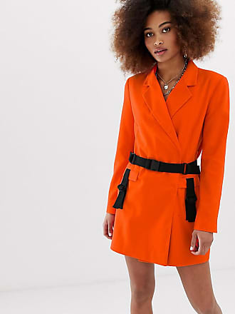Collusion blazer dress with utility details - Red