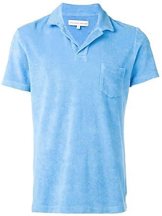 Orlebar Brown Camisa polo com bolso frontal - Azul