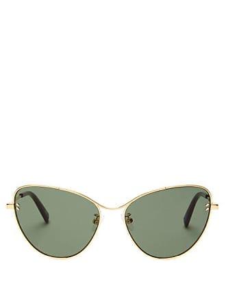 Stella McCartney Stella Mccartney - Cat Eye Metal Sunglasses - Womens - Gold