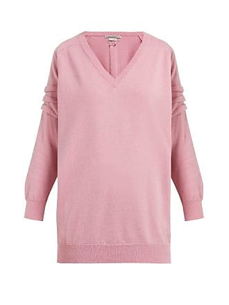 Queene and Belle Queene And Belle - V Neck Cashmere Sweater - Womens - Light Pink