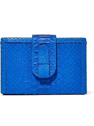 Ximena Kavalekas Mandolin Python Clutch - Cobalt blue